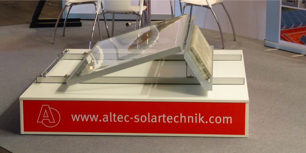 Messestand - altec Solartechnik